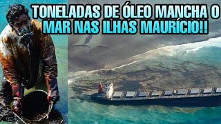 NAVIO ENCALHADO NAS ILHAS MAURÍCIO DESPEJA TONELADAS DE ÓLEO AO MAR!!
