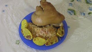 Отличный Рецепт, Свиная рулька в Пиве с Квашеной капустой! #Рецепты