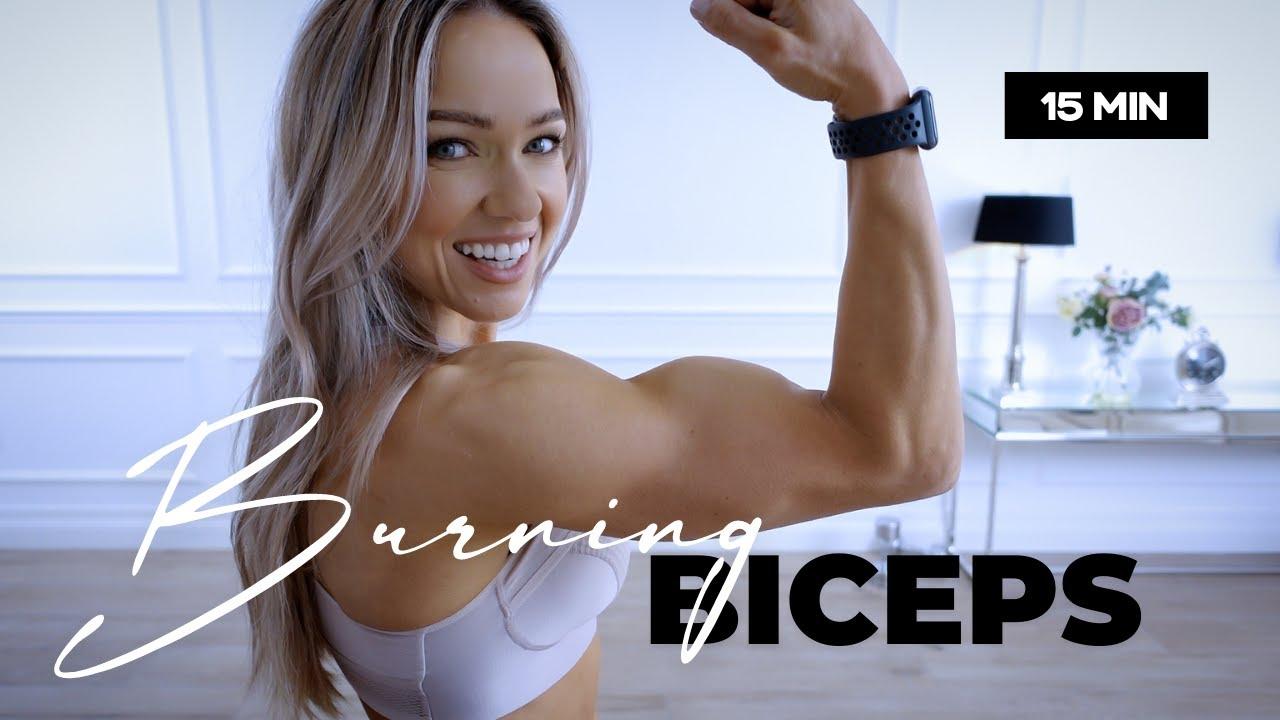 Download 15 Minute BURNING Biceps Workout / Dumbbells - Caroline Girvan