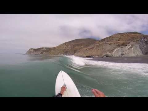 Surfing in Big Sur