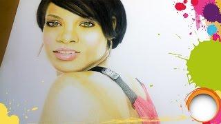 Drawing Rihana ( Robyn Rihanna Fenty) Photorealism