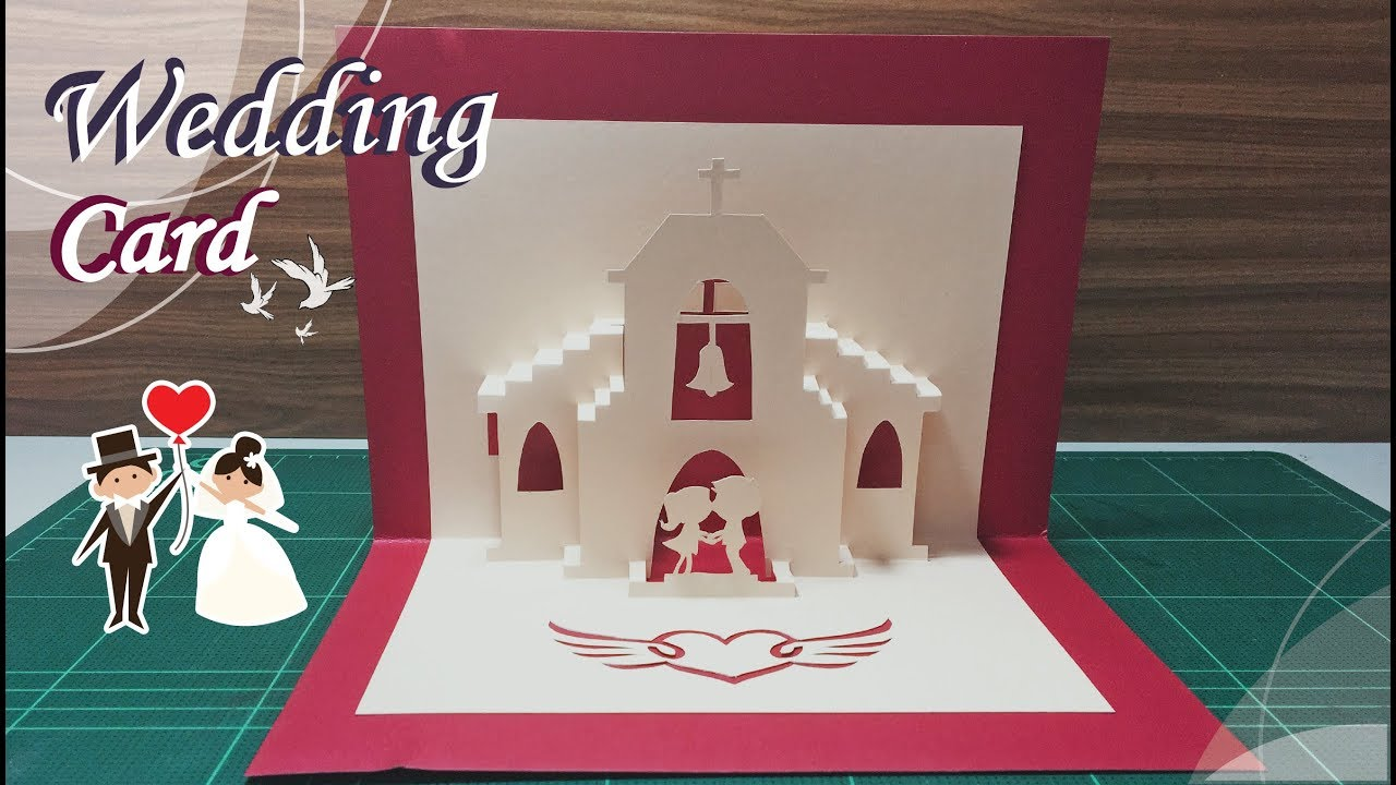Wedding Card #21 - Pop-Up Card Tutorial For Wedding Pop Up Card Template Free