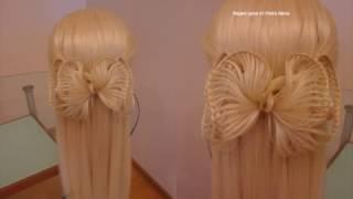 Романтичный бант. Плетение Скат. Видео-урок.