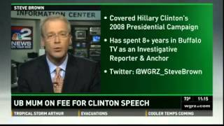 WGRZ-NY: University At Buffalo Refuses To Disclose Amount Clinton Was Paid For Speech
