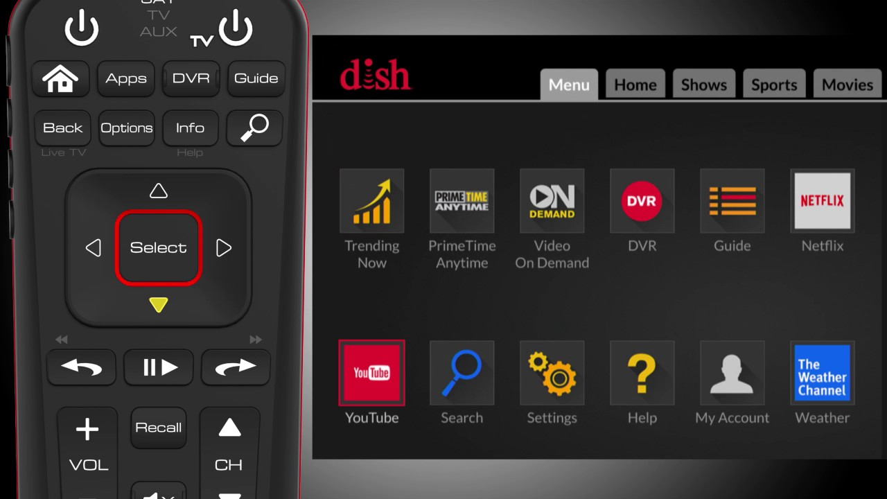 dish accessibility settings youtube rh youtube com Dish Network Settings Menu Dish Network Menu Screen