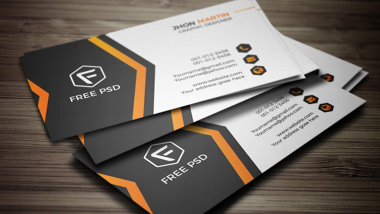 Business Card Design In Photoshop How To Make A Business Card