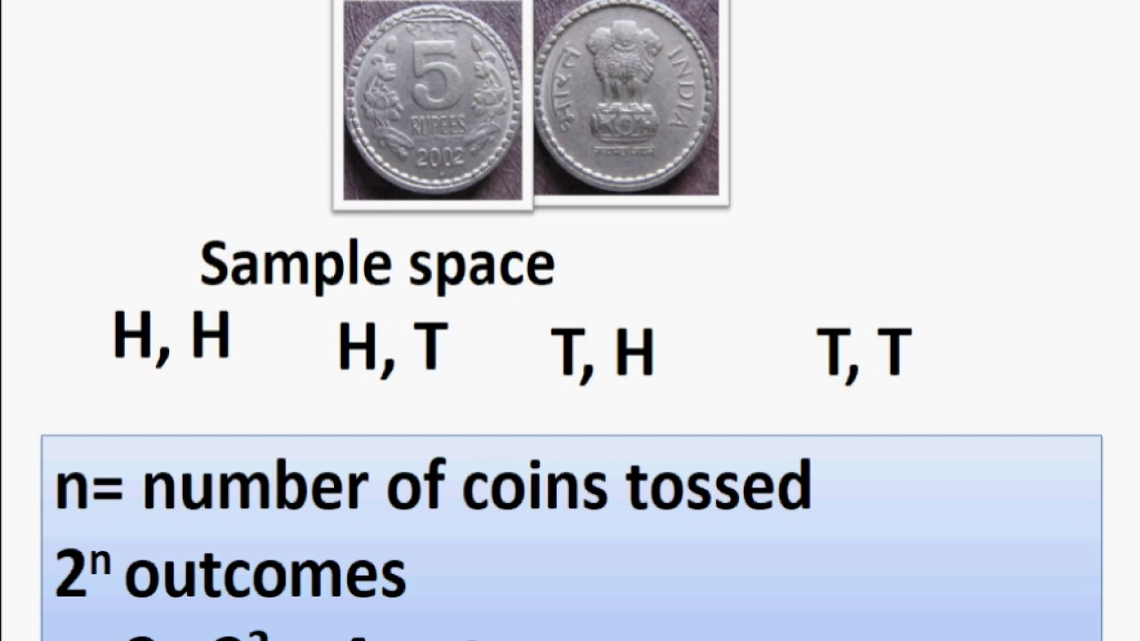 maths sample space of tossing n coins probability part 6 english youtube. Black Bedroom Furniture Sets. Home Design Ideas