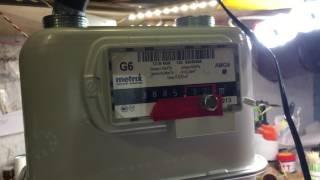 Как остановить Счетчик газа Metrix G6