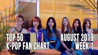 Top 50 K-Pop Songs Chart - August 2019 Week 1 Fan Chart