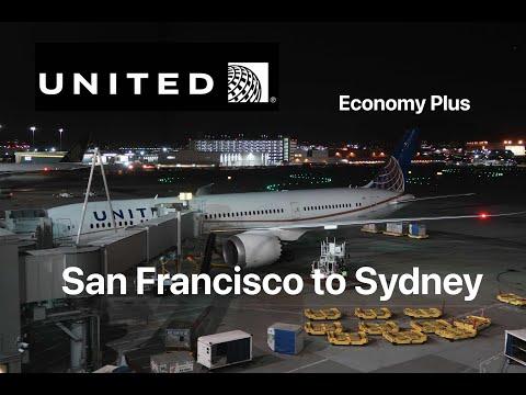Economy Plus On United UA 863 San Francisco To Sydney Boeing 787-9