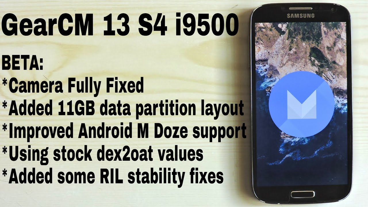 Cyanogenmod 13 (GearCM) beta 6 0 1 on Galaxy S4 i9500