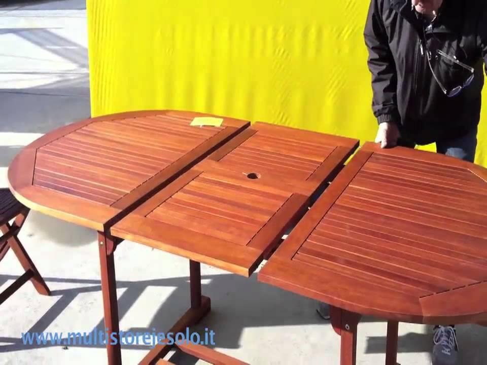 Tavoli Da Giardino Pieghevoli In Legno.Tavolo Da Giardino Pieghevole Kera Youtube