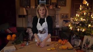 DIY orange and clove Christmas decorations