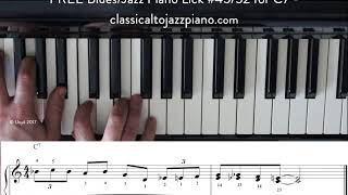 FREE Blues/Jazz Lick #45/52 - Video Lessons & FREE PDF of all 52.