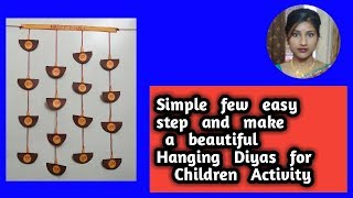 Beautiful hanging diyas few easy step