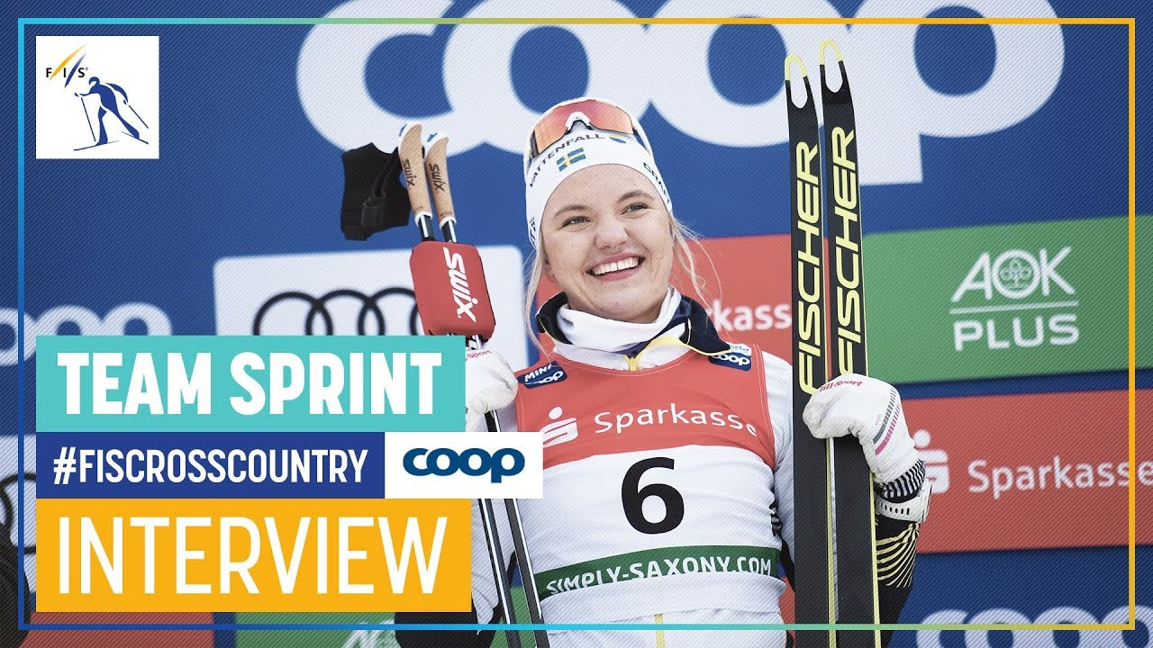 Linn Svahn I Like This Difficult Track Women S Sprint Dresden Fis Cross Country Youtube