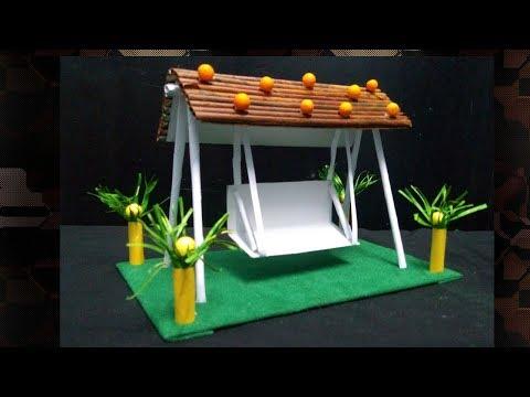 DIY II Beautiful Swing/Jhula made of Paper II Newspaper craft