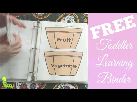 FREE Toddler Learning Binder | Preschool At Home