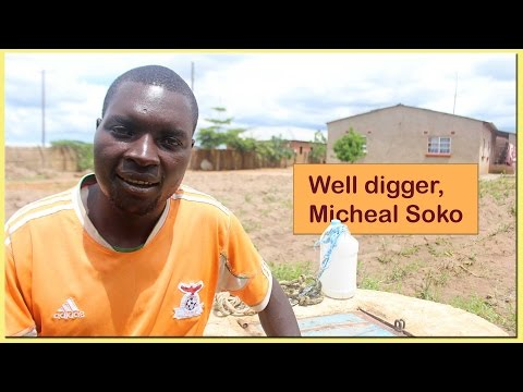 Well digger & mason, Micheal Soko wants to learn manual drilling