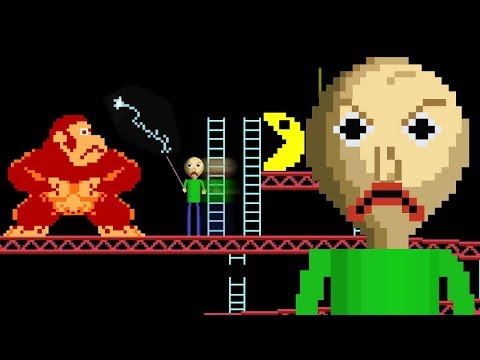 Baldi in Pac-Man with donkey kong
