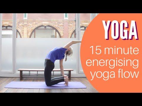 Wake up! Energising 15 minute vinyasa flow yoga from Yoga Hero