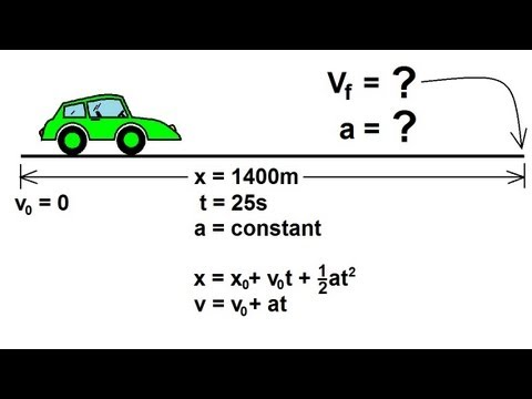 Physics  Mechanics Motion In OneDimension 8 of 22 Example 1  YouTube