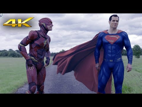 Race. Flash vs Superman | Justice League 4k HDR