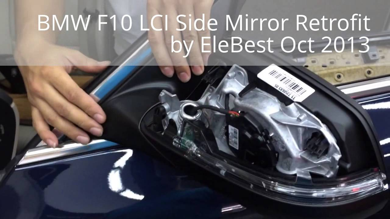 Bmw F10 Lci Side Mirror Retrofit With Led Signal Lights By