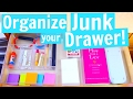 How to Clean out and Organize a JUNK DRAWER!