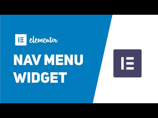 How To Use Elementor Pro Nav Menu Widget