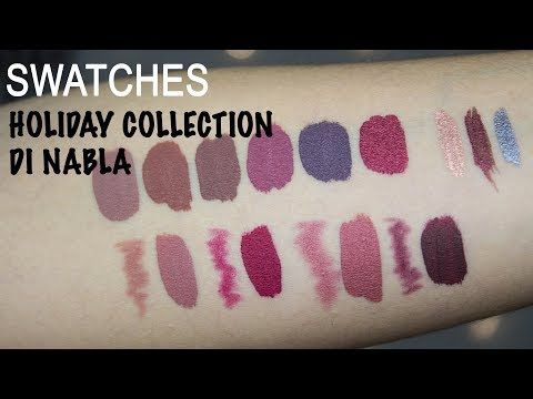 Swatches HOLIDAY COLLECTION di NABLA COSMETICS | Simona Napp