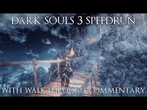 Dark Souls 3 Speedrun in 1:16.44 (All Bosses) with Walkthrough Commentary