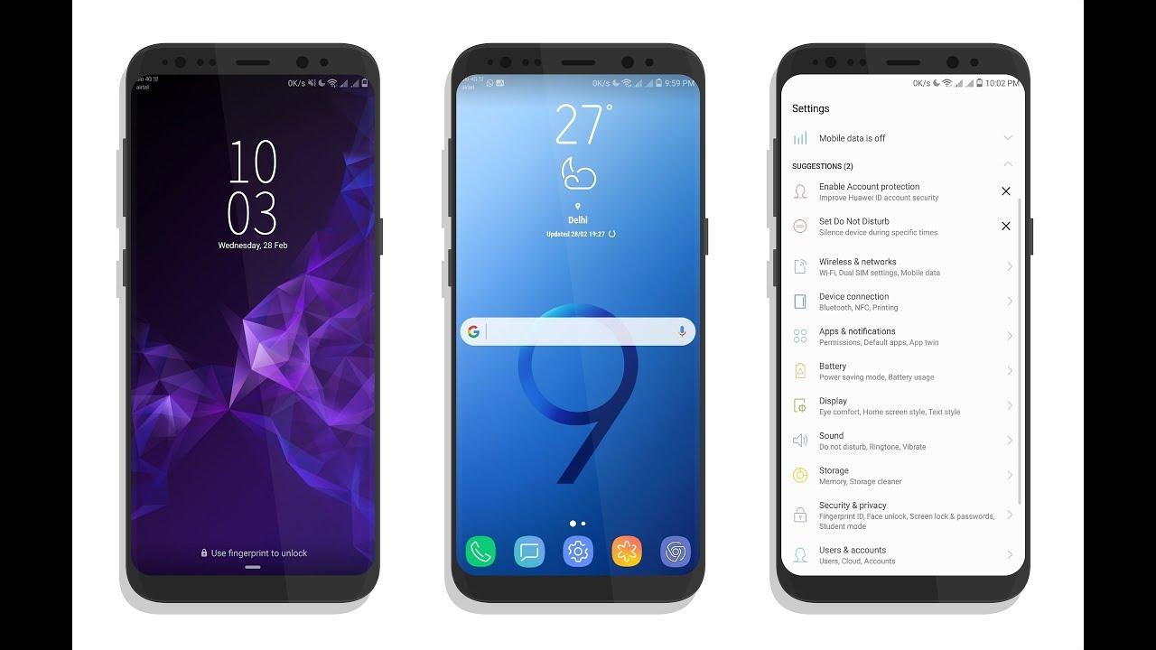 Samsung S9 Theme for EMUI 8 And EMUI 5