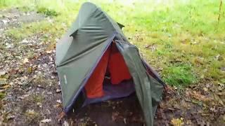 Wild camping in heavy rain in the woods, vango blade 100.