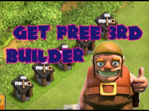 how to get 3rd builder for free (Clash Of Clan) COC best guide