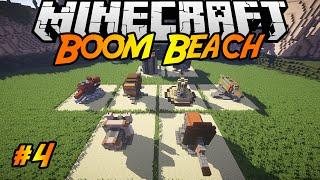 Boom Beach in Minecraft | Making of #4 | Mortar, Machine Gun, Rocket Launcher, Shock Launcher