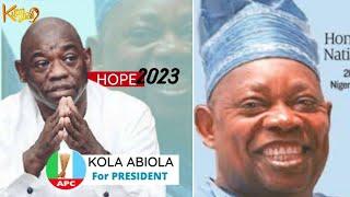 Kola Abiola 2023 Presidential Campaign Poster Flood Social Media