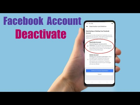 How can i deactivate my facebook account