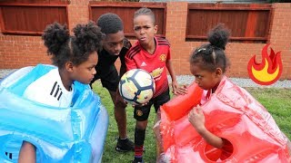 Ultimate 1v1 Bubble Suit Football Challenge!