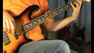The Bee Gees - Staying Alive - Bass Cover