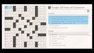 Google Crossword Puzzle Answers