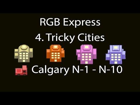 RGB Express Tricky Cities Calgary (Hannover) N-1 - N-10 Walkthrough