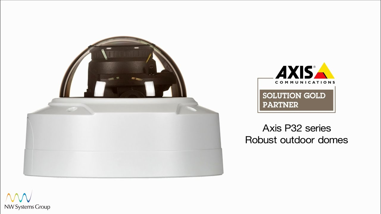 Axis P3214-VE outdoor vandal-resistant dome IP camera - HD 720p