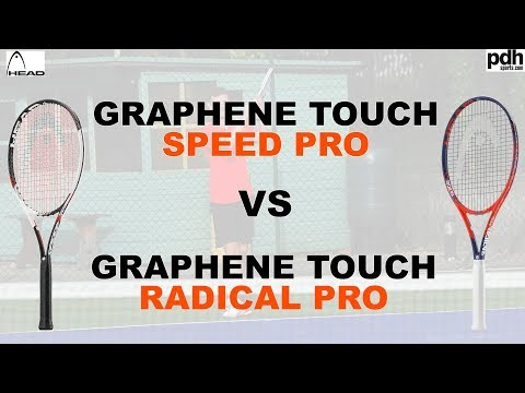 HEAD Graphene Touch Radical Pro & Speed Pro Tennis Racket review by pdhsports.com