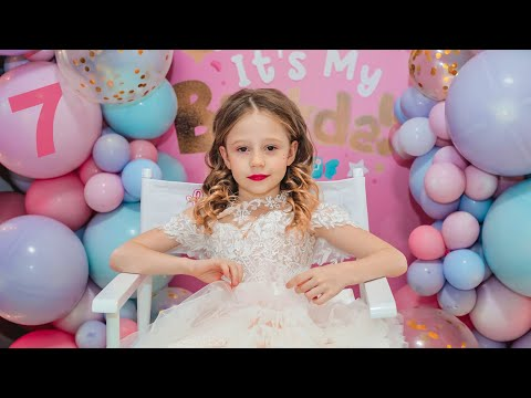 Nastya and her Birthday Party 7 years old