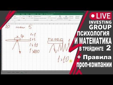 Психология и математика в трейдинге 2 +Точки входов + Правила проп-компании