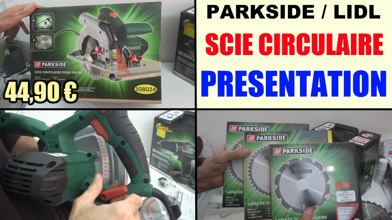 Scie Circulaire Parkside Phks 1350 Lidl Présentation Circular Saw Handkreissäge