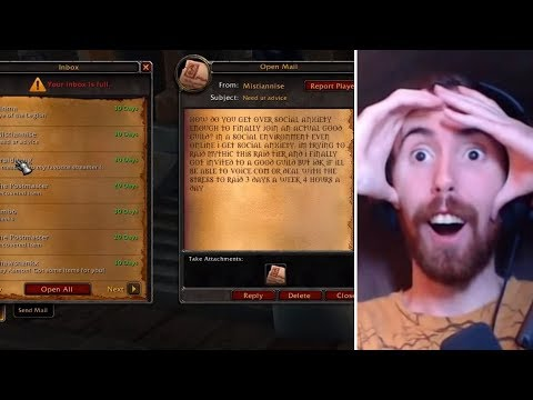 Compilation of Asmongold Reacting to Mail From Viewers in WoW