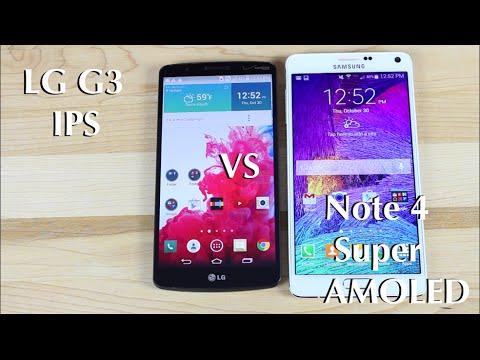Note 4 vs LG G3 Screen Review! AMOLED vs IPS Quad HD