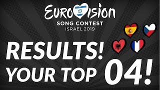 Eurovision 2019: YOUR top 4 (out of 120 tops) (so far)